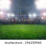 green soccer stadium ... | Shutterstock . vector #196250960