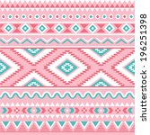 tribal seamless pattern  aztec... | Shutterstock .eps vector #196251398