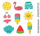 hello summer icons isolated on... | Shutterstock .eps vector #1962515713