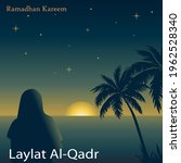 ramadan kareem with the theme... | Shutterstock .eps vector #1962528340