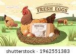 vintage ad template for fresh... | Shutterstock .eps vector #1962551383