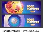 food planets cartoon web...