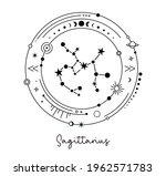 sagittarius constellation... | Shutterstock .eps vector #1962571783