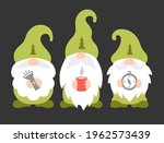 gnome campers. colorful vector... | Shutterstock .eps vector #1962573439