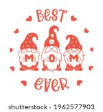 mothers day card with gnomes...   Shutterstock .eps vector #1962577903