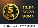 5 million or 5m views golden... | Shutterstock .eps vector #1962580063