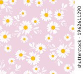 seamless pattern with daisy... | Shutterstock .eps vector #1962611290
