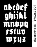 gothic alphabet font. vector | Shutterstock .eps vector #196261904