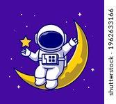 astronauts sitting on the moon...   Shutterstock .eps vector #1962633166