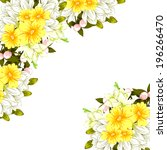abstract flower background with ... | Shutterstock . vector #196266470