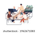 happy young people working at...   Shutterstock .eps vector #1962671083