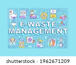 e waste management word...