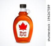 bottle of maple syrup with...   Shutterstock . vector #196267589