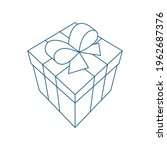 gift box. cartoon style drawing ... | Shutterstock .eps vector #1962687376