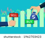buy and sell over the stock...   Shutterstock .eps vector #1962703423