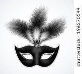 black carnival mask with... | Shutterstock .eps vector #196270544
