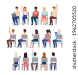 sitting people. young men and... | Shutterstock .eps vector #1962705520