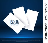 realistic flying business cards ...   Shutterstock .eps vector #1962705979