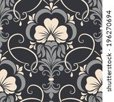 Vector Damask Seamless Pattern...