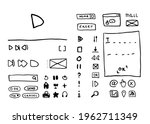 set of hand drawn doodle icons...