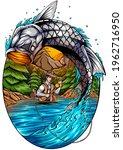 Tarpon Fish Illustration....