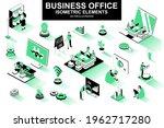business office bundle of... | Shutterstock .eps vector #1962717280