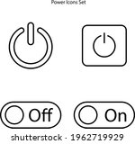 power button icon set isolated...