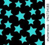 Blue Vector Stars On A Black...