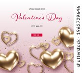 valentines day background with... | Shutterstock .eps vector #1962729646