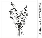 a cute bouquet of wildflowers... | Shutterstock .eps vector #1962742966