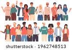 people greeting gesture.... | Shutterstock .eps vector #1962748513