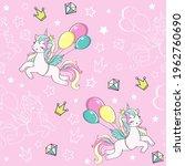 cute unicorn vector...   Shutterstock .eps vector #1962760690