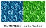 eucalyptus silhouettes seamless ...   Shutterstock .eps vector #1962761683