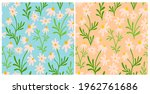 chamomile and daisy seamless...   Shutterstock .eps vector #1962761686