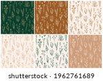 wildflower seamless pattern set ...   Shutterstock .eps vector #1962761689