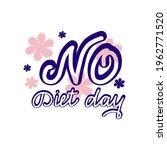 lettering no diet day. script... | Shutterstock .eps vector #1962771520