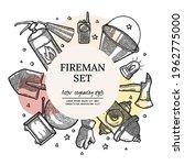firefighting vintage elements...   Shutterstock .eps vector #1962775000