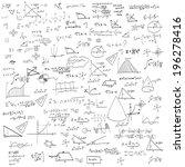 maths seamless pattern. and... | Shutterstock .eps vector #196278416
