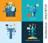 flat design concept icons for... | Shutterstock .eps vector #196278719