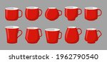 set of cup for drinks  coffee... | Shutterstock .eps vector #1962790540