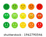 emotion feedback scale icons... | Shutterstock .eps vector #1962790546