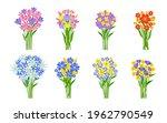 fresh flowers bouquets set.... | Shutterstock .eps vector #1962790549