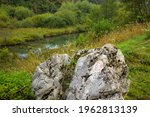 A Big Rock In Nature. Detail Of ...