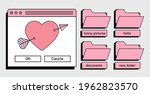 retro user interface with... | Shutterstock .eps vector #1962823570