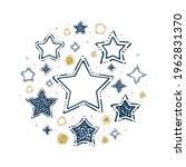 stars. hand drawn different... | Shutterstock .eps vector #1962831370