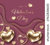 valentines day background with... | Shutterstock .eps vector #1962838600