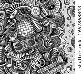 cartoon vector doodles disco... | Shutterstock .eps vector #1962868843