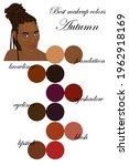best makeup colors for autumn...   Shutterstock .eps vector #1962918169