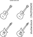 guitar icon set isolated on...