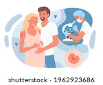 in vitro fertilization with... | Shutterstock .eps vector #1962923686